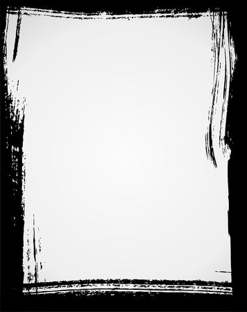 blab: Grunge frame in colore nero Vettoriali