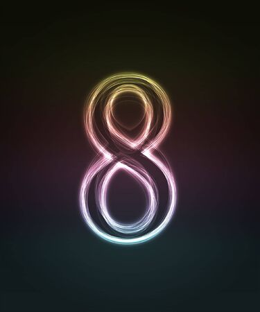 alphanumeric: Shiny number isolated on the black background