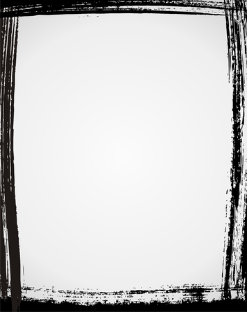blab: Frame nero Grunge in colore Vettoriali