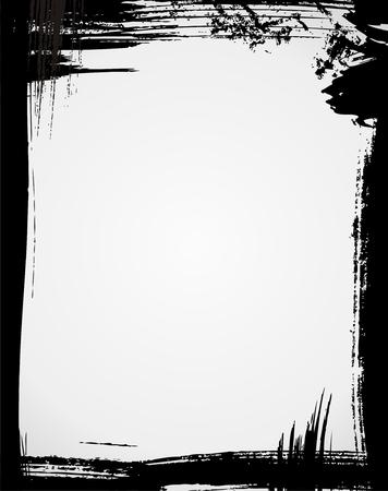 Grunge frame in black color Stock Vector - 5245510