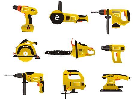 trabajo manual: Instrumento el�ctrico para alisado en color amarillo y negro
