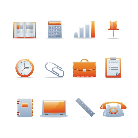 Set of 12 glossy web icons Part 2 (see other in my portfolio) Stock Vector - 5434728