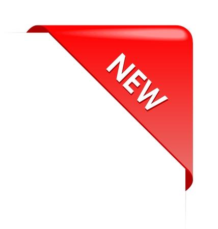 New red corner business ribbon