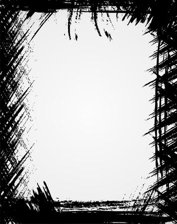blab: Grunge telaio in colore nero  Vettoriali