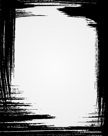 Grunge frame in black color Vector