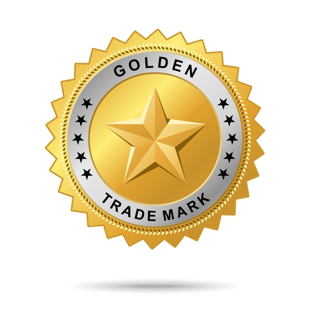 "trade mark: Badge Vector golden denominato ""Etichetta d'Oro marchio commerciale"" per la grafica business"