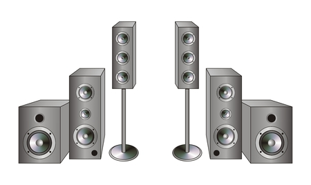 hardrock: Four acoustic system boxes