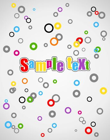 Abstract cartoon background with many circle in different color Vector