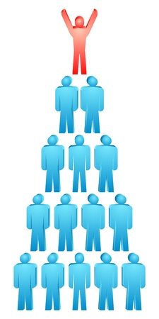 Vector group of people pyramid. Stock Vector - 5696717