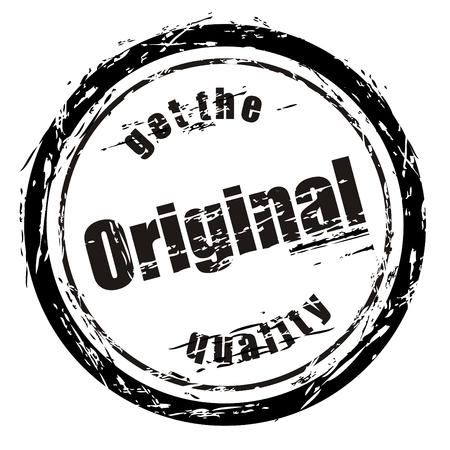 named: Abstract black grunge stamp named get the Original quality Illustration