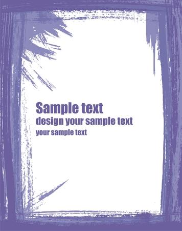 blab: Il grunge telaio in colore viola