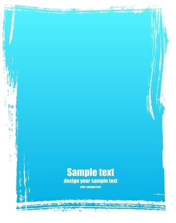 blab: Grunge telaio in colore blu Vettoriali