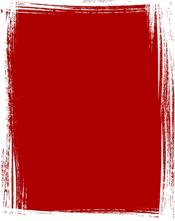 awful: Grunge frame in red color