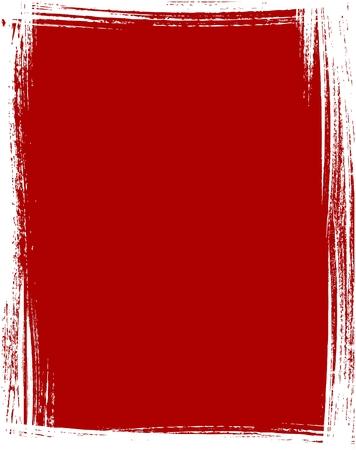 blab: Il grunge telaio in colore rosso