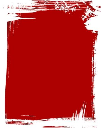 blab: Grunge frame in red color
