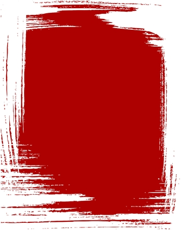 Grunge frame in red color Stock Vector - 5696756