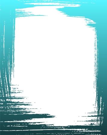 Grunge frame in blue color Vector