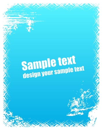 Grunge frame in blue color Vector