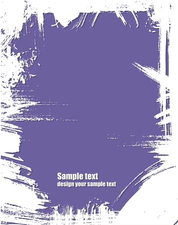 blab: Grunge cornice in colore viola  Vettoriali