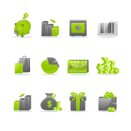 Set of 12 glossy web icons Part 4 (see other in my portfolio). Stock Vector - 5696757