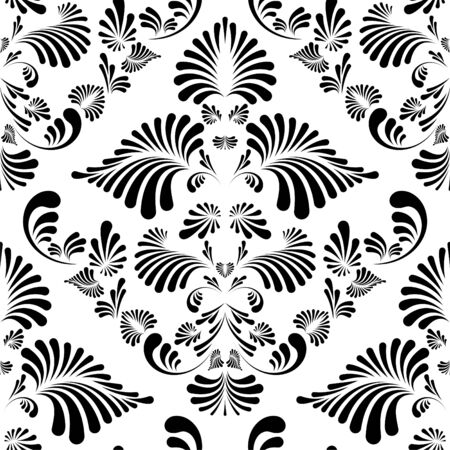stencil: Seamless floral pattern. Nice to use as background. Illustration