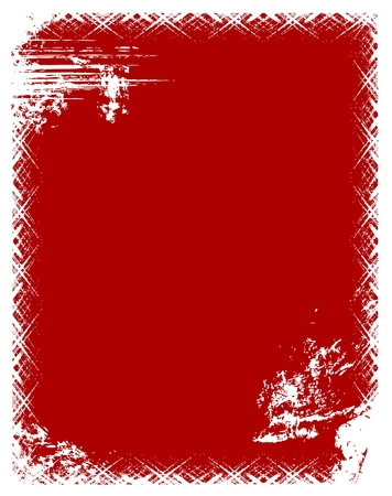 blab: Grunge telaio in colore rosso.