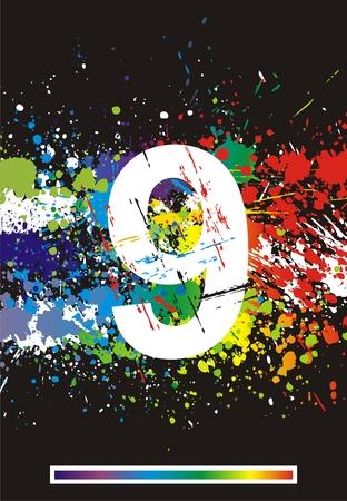cipher: Color paint splashes font.