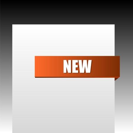 New orange corner business ribbon on black background. Vector