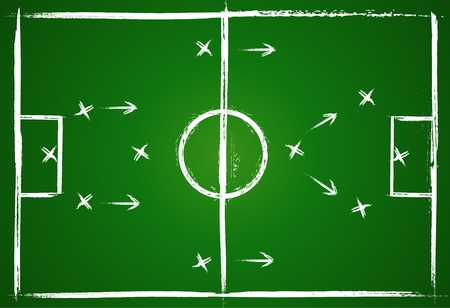 role: Illustration football game. Teamwork strategy. Vector background.