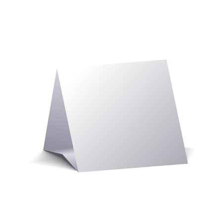 calendario escritorio: Calendario de escritorio en blanco, aislado sobre fondo blanco. Imagen 3D.
