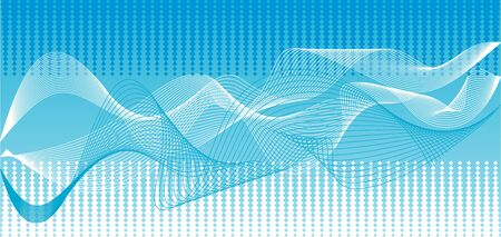 electric grid: Illustrations blue wave abstract vector background.