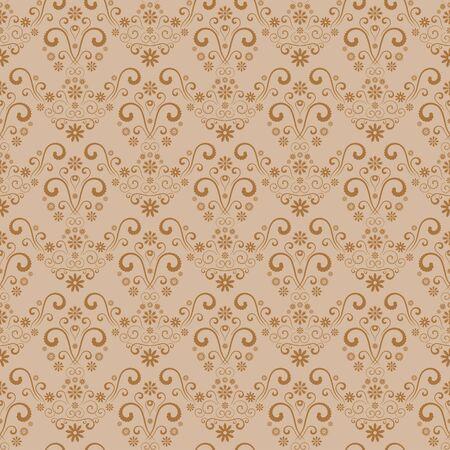 Seamless retro damask pattern. Stock Vector - 5762054