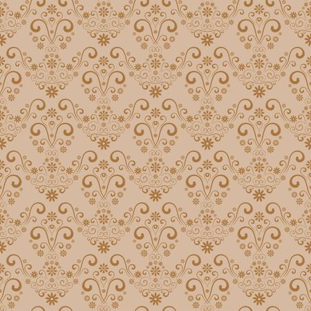 Seamless retro damask pattern. Vector