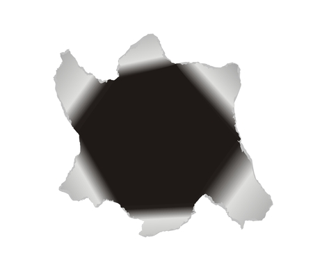 Black hole torn in paper to frame a picture or text. Stock Vector - 5761981