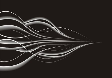 abstract curves: Black abstract composition with modern design.