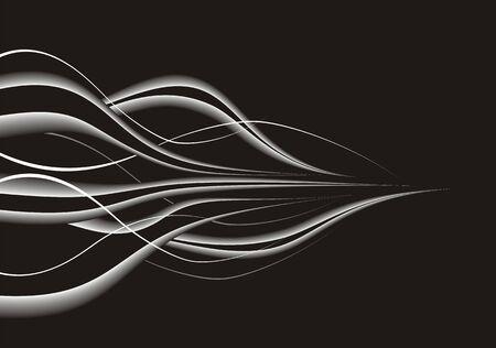 Zwarte abstracte compositie met modern design.