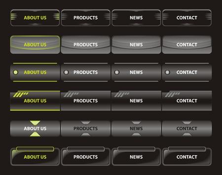 navigation panel: Various vector illustration of website menu.