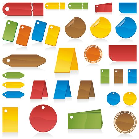 Set of design elements can used for tags, labels, patchs, stickers, badges in your work. Vector