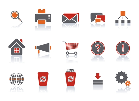 Web icon set for use in any kind of website. Vector