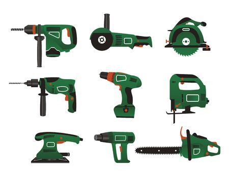 trabajo manual: Instrumento el�ctrico para alisado en color verde y negro.