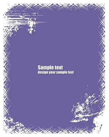 blab: Il grunge telaio in colore viola.