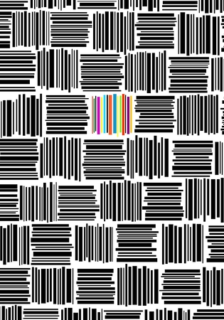 cypher: Barcodes. Seamless background. Gray color.