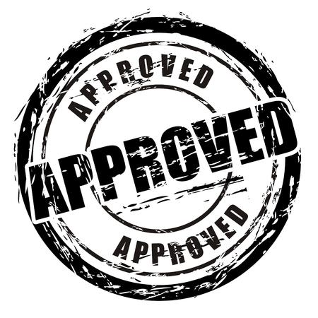 approved stamp: Sello de grunge negro abstracto denominado aprobado.