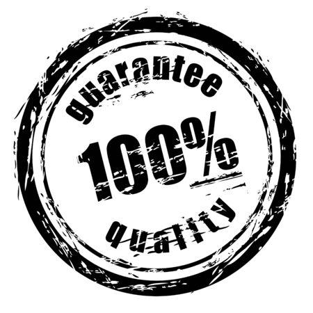 stamper: Abstract black grunge stamp named guarantee quality. Illustration