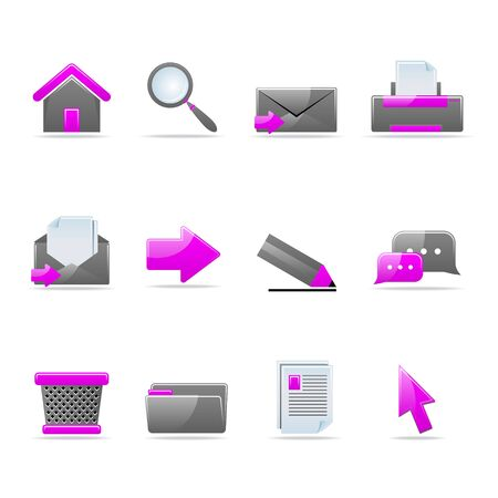 phone time: Set of 12 glossy web icons Part 2 (see other in my portfolio)