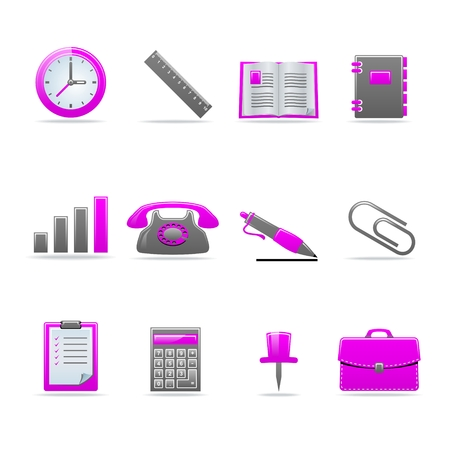 Set of 12 glossy web icons Part 2 (see other in my portfolio) Stock Vector - 5987561