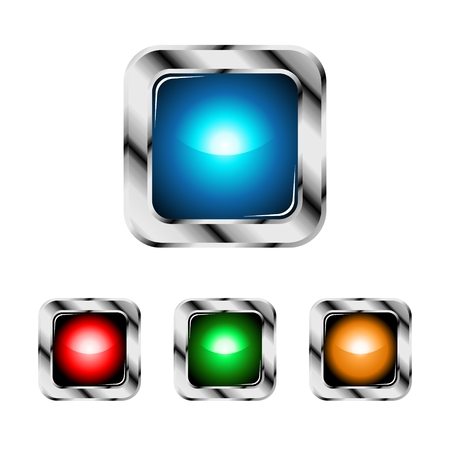 Glossy sphere designs. Set of  bright button. Vector
