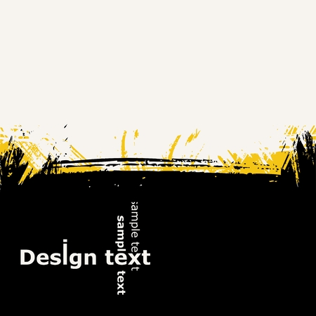 Design background with paint grunge splash. Vector