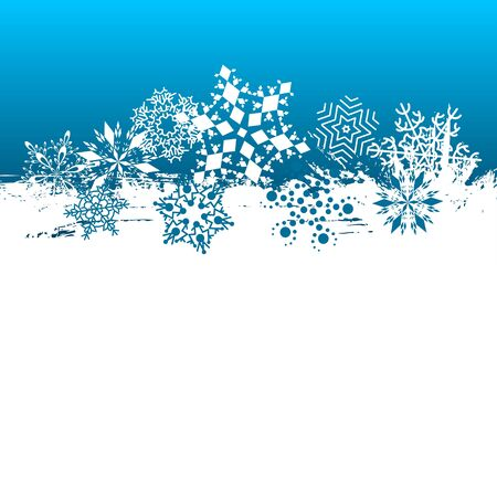 Snowflakes background. Vector design illustration. Vector
