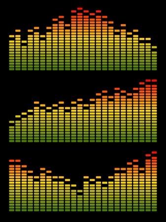 digital equalizer. Volume wave background. Vector
